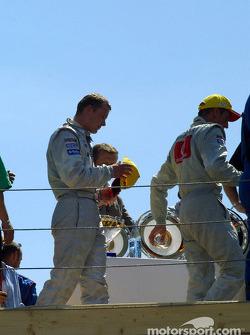 Marcel Fassler and Bernd Schneider on the podium
