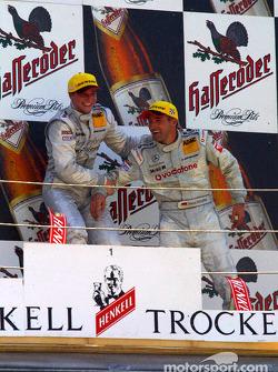 The podium: race winner Christijan Albers and Bernd Schneider
