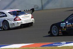 Bernd Mayländer, Persson Motorsport, AMG-Mercedes CLK-DTM 2002; Marcel Fässler, Team HWA, AMG-Merced