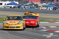 #15 TPC Racing Porsche 996: John Beaver, Jim Haggerty et #50 Michael Baughman Racing Firebird: Ray Mason, Bob Ward