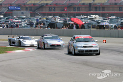 #04 Istook/Aines Motorsport Group Audi S4 leads the #38 Unitech Racing 350Z and the #31 Mosler Automotive Mosler MT900R