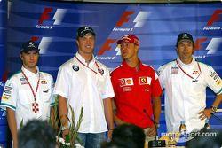 Thursday FIA press conference: Nick Heidfeld, Ralf Schumacher, Michael Schumacher and Heinz-Harald F