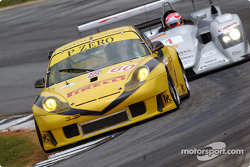 #60 P.K. Sport Porsche 911 GT3 RS followed by Marco Werner