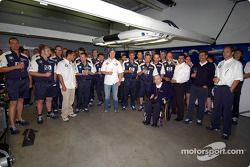 Dr Mario Theissen, Gerhard Berger, Frank Williams and other members celebrate an extention of five y
