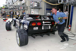 Corvette Racing Gary Pratt pit area