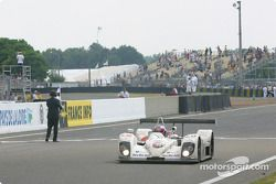 #26 RN Motorsport LTD DBA4-03S-Zytek: John Nielsen, Hayanari Shimoda, Johnny Dumfries takes the checkered flag