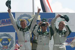 LMP1-Podium: 1. Tom Kristensen, Rinaldo Capello, Guy Smith