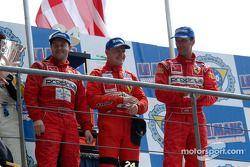 Podium: GTS winners Tomas Enge, Peter Kox, Jamie Davies