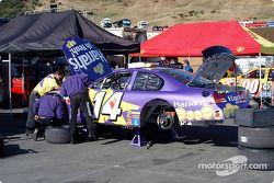 A.J. Foyt Racing garage area