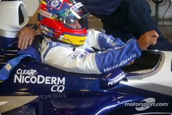 Juan Pablo Montoya works in tight quarters in the FW24