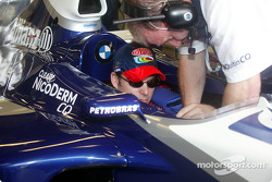 Jeff Gordon gets strapped into FW24
