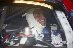 Juan Pablo Montoya having a blast, Indy