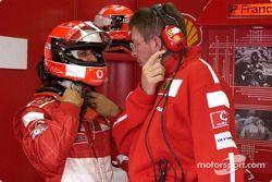 Michael Schumacher et Ross Brawn