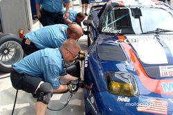 Pitstop practice at Corvette Racing Gary Pratt