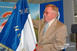 Le Mans awards ceremony: Don Panoz was handed the flag that will be used to start the race