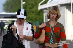 Jacques Villeneuve and fiancée Elly Green