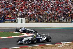 Ralf Schumacher leads Juan Pablo Montoya