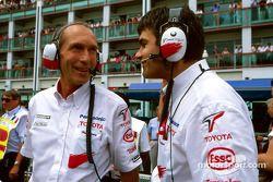 Humphrey Corbett with a Toyota team member
