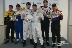 ST I podium: vainqueurs du classement Steve Pfeffer, Donald Salama, avec Pete Halsmer, John Schmitt, et Scott Schlesinger, Sylvain Tremblay