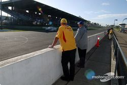 Ford legend Dick Johnson watches Riccardello in action