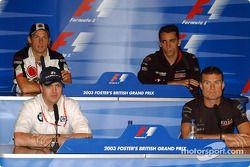 FIA persconferentie: Ralf Schumacher, David Coulthard, Jenson Button en Justin Wilson