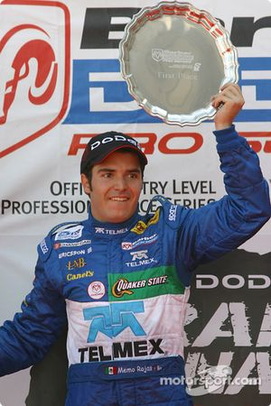The podium: race winner Memo Rojas