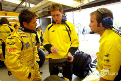 Giancarlo Fisichella and race engineer Rob Smedley
