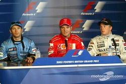 Conferencia de prensa: Ganador de la pole Rubens Barrichello, Jarno Trulli y Kimi Raikkonen