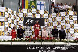 Podium: 1. Rubens Barrichello, 2. Juan Pablo Montoya, 3. Kimi Räikkönen
