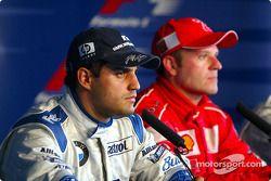Conferencia de prensa: Montoya y ganador Rubens Barrichello