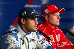 Press conference: Juan Pablo Montoya and race winner Rubens Barrichello