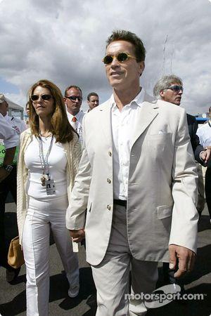 Arnold Schwarzenegger avec sa femme Maria
