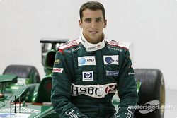 Justin Wilson ve Jaguar F1 Cari after his transfer to Jaguar Racing from Minardi, Jaguar Racing faktöry Milton Keynes