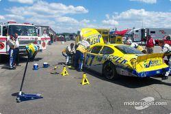 La voiture accidentée de Dave Blaney