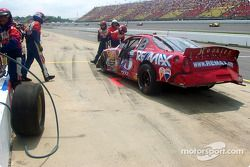 Rick Carelli's damaged car