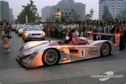 L'Audi R8 lors de la présentation de l'Audi R8 à Beijing