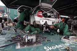 Skoda Team service area