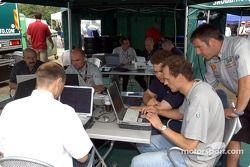 Skoda Team engineers at work