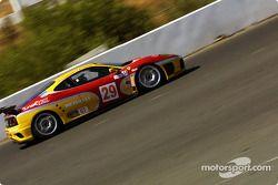 la Ferrari 360 Modena n°29 de l'équipe JMB Racing USA / Team pilotée par Andrea Garbagnati, Ludovico Manfredi