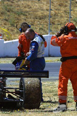 Duncan Dayton après son crash avec Leo Hindery