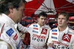 Carlos Sainz, Daniel Elena et Sébastien Loeb