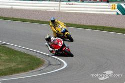 Norick Abe, Yamaha; Tohru Ukawa, Pons Honda