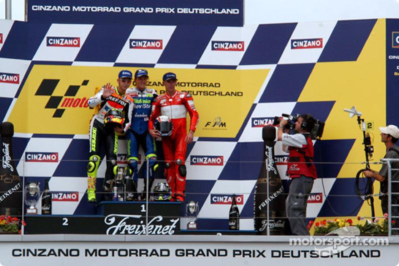 2003: 1. Sete Gibernau, 2. Valentino Rossi, 3. Troy Bayliss
