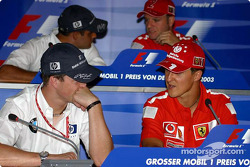 Thursday FIA basın toplantısı: Ralf Schumacher ve Michael Schumacher