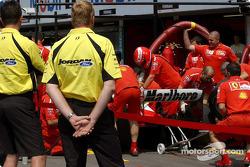 Pitstop practice, Ferrari