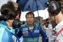 Heinz-Harald Frentzen on the starting grid