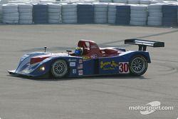 la Riley & Scott MK III C n°30 de l'équipe Intersport Racing pilotée par Clint Field, Michael Durand tourne