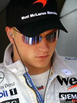 Kimi Raikkonen en la parrilla de salida