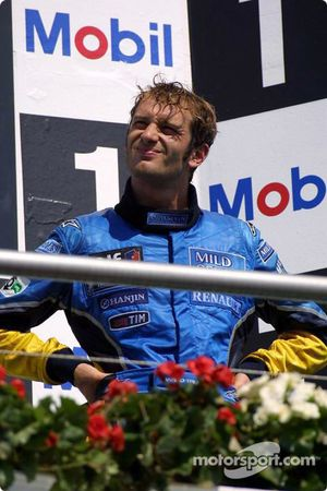 The podium: Jarno Trulli