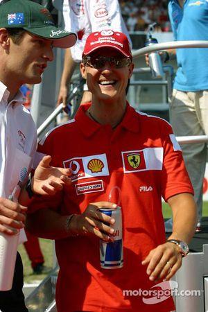 Mark Webber and Michael Schumacher